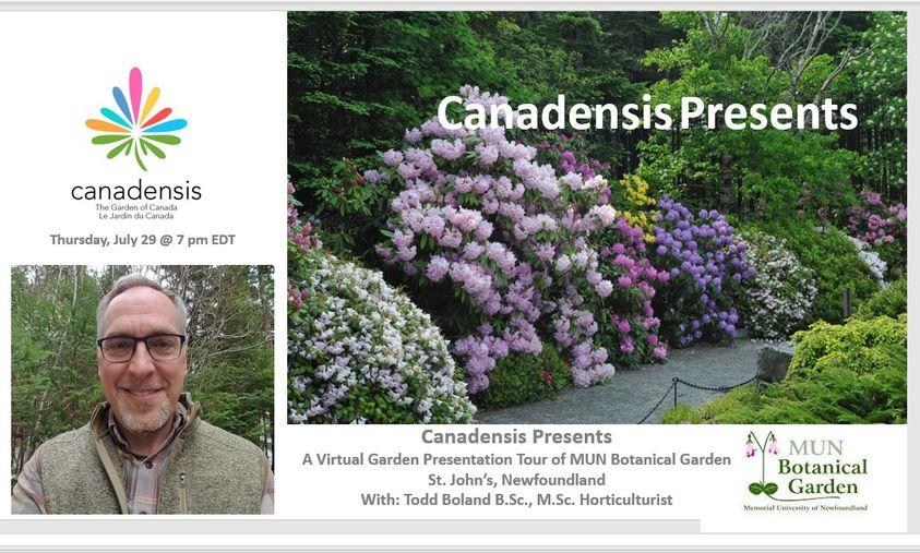 Canadensis Presents: A Virtual Garden Tour of MUN BOTANICAL GARDEN – July 29