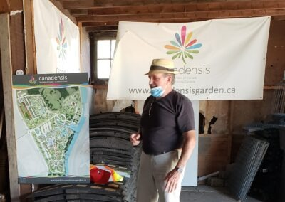 Canadensis site tour with Chair G. Lajeunesse 1 - in the barn
